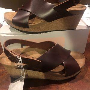 Papillio Samira cognac leather 10 narrow new